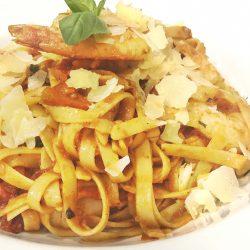 prawn semi dried tomato fettucini - ZOOM